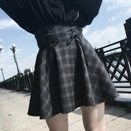 Plaid high waist skirt DB2010