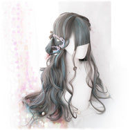 Harajuku Lolita Gradient Long Curly Hair Wig DB4823