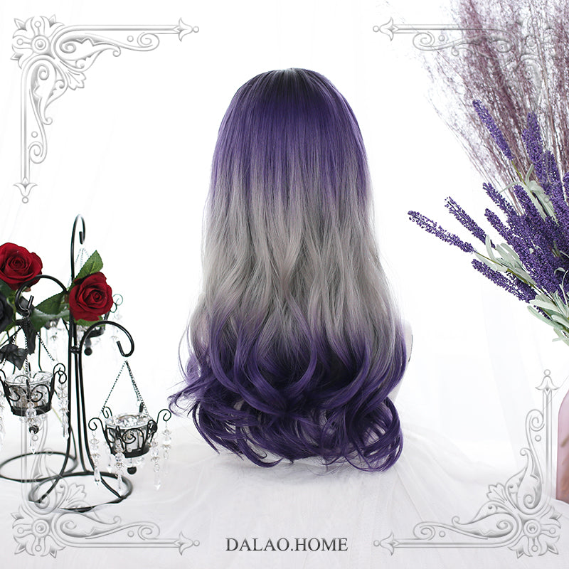 Harajuku Lolita Purple Gray Gradient Wig DB5439