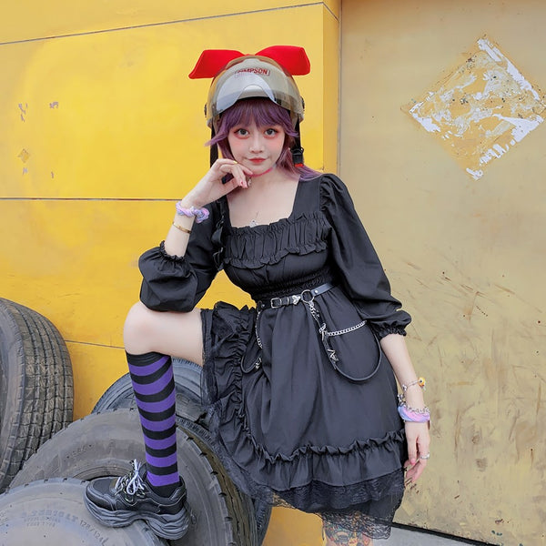Black lolita dress   DB6124