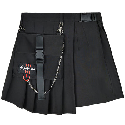 Dark irregular high waist skirt DB4017