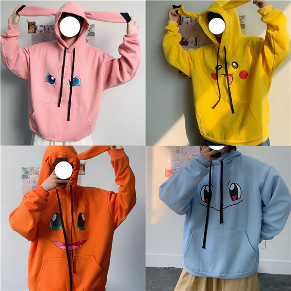 Four color Pokémon hooded sweater DB4966