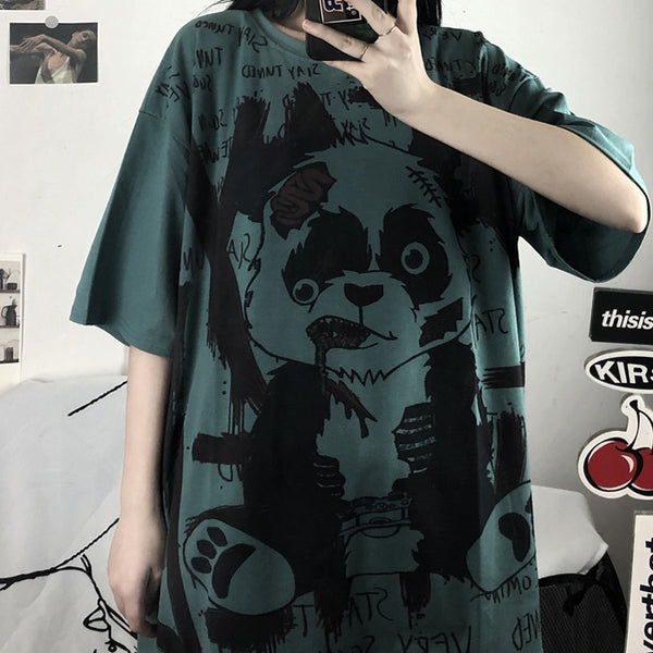Panda print short sleeve T-shirt DB5331