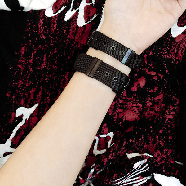 Punk black bracelet DB5403