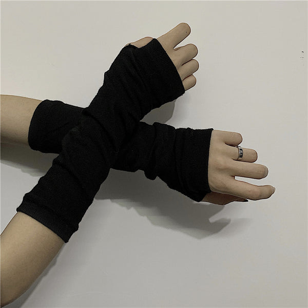 Punk black gloves DB1012