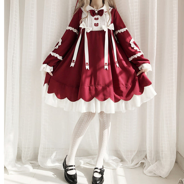 Lolita Bear Red Dress  DB6414