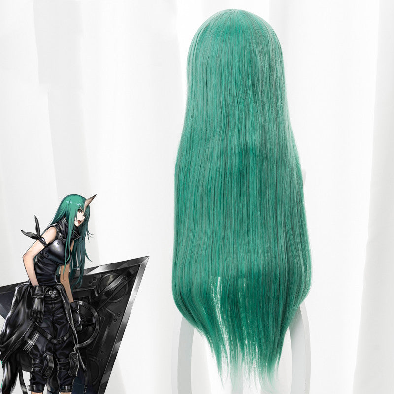 Arknights star bear cos mixed green wig DB4654