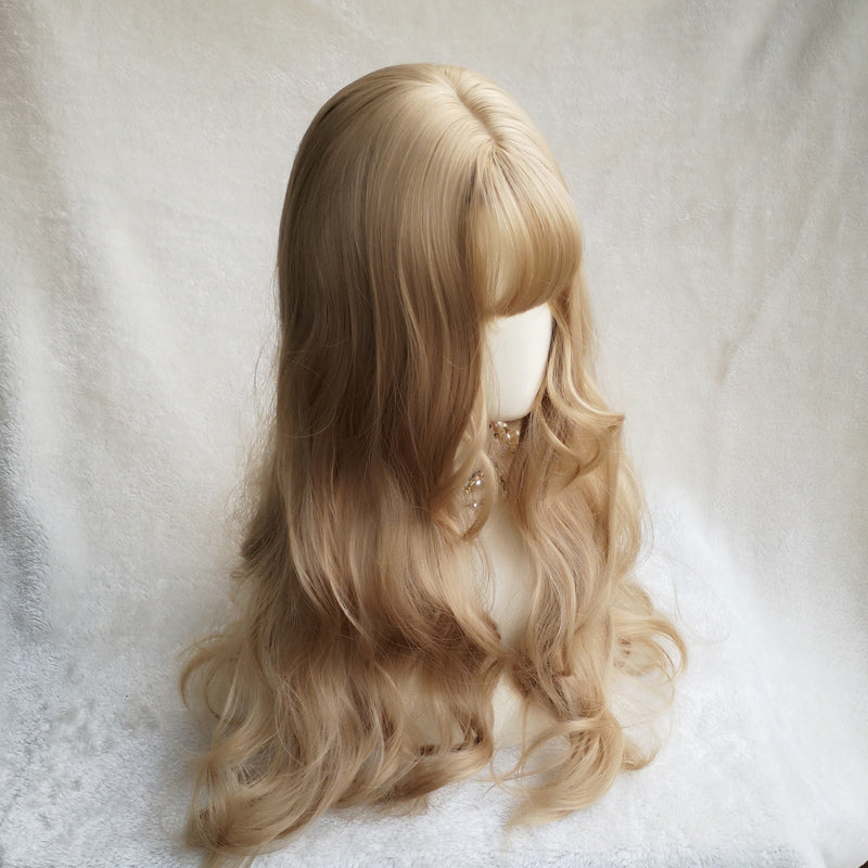 Golden long roll wig DB3105