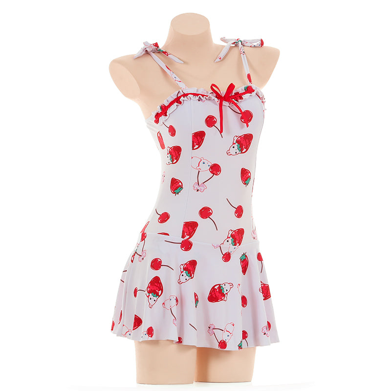 Sexy Cherry Strawberry Printed Swimsuit DB4925