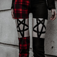 Punk five-pointed star pants DB2008