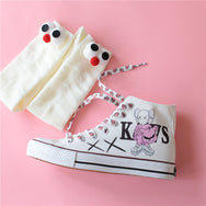 Hand-painted doodle high-top shoes (send socks) DB5456