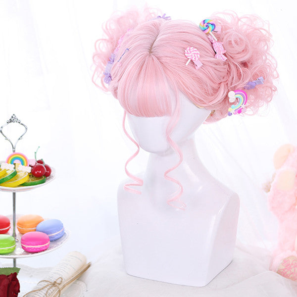 Lolita cos doll girl curly hair wig DB5144