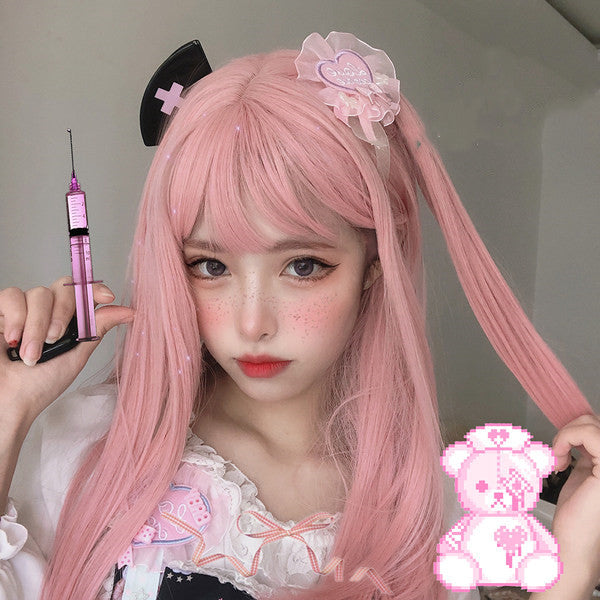Lolita pink long hair  wig   DB5605