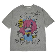 Anime printed short-sleeved T-shirt DB5475