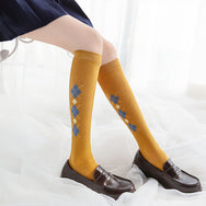 Wild knitted short socks DB4857
