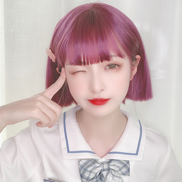 Harajuku Purple Short Wig DB5622