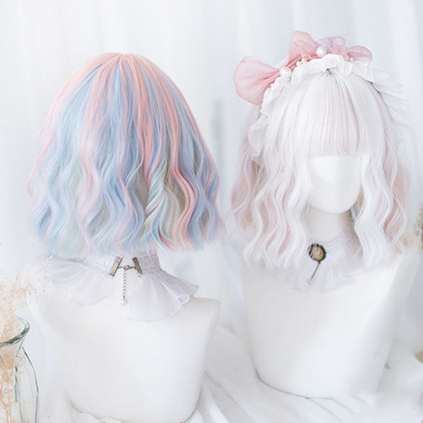 Lolita Harajuku Mixed color short wig wig DB4910