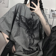 Harajuku Angel Print Top    DB5531