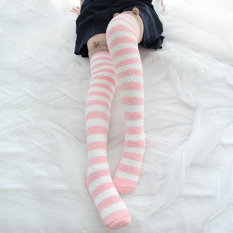 Coral fleece paint socks DB4692