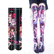 Seven deadly sins printed paint socks DB4502