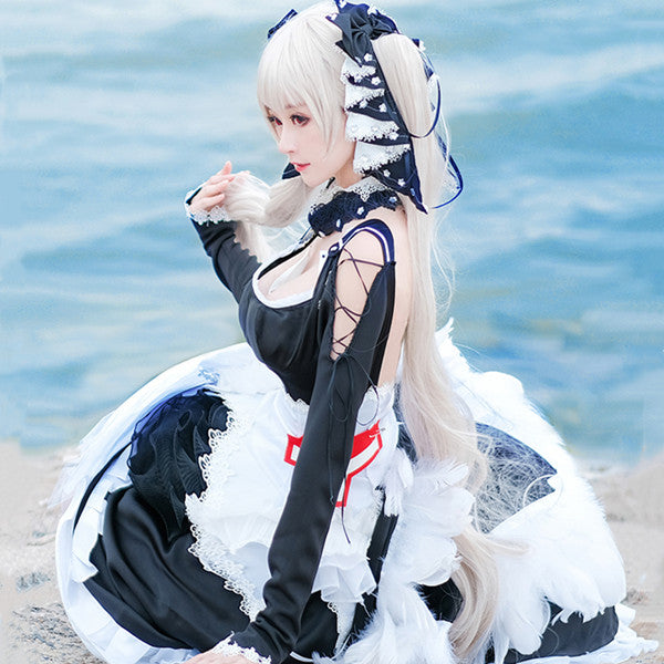 Azur Lane cosplay black dress suit DB5401