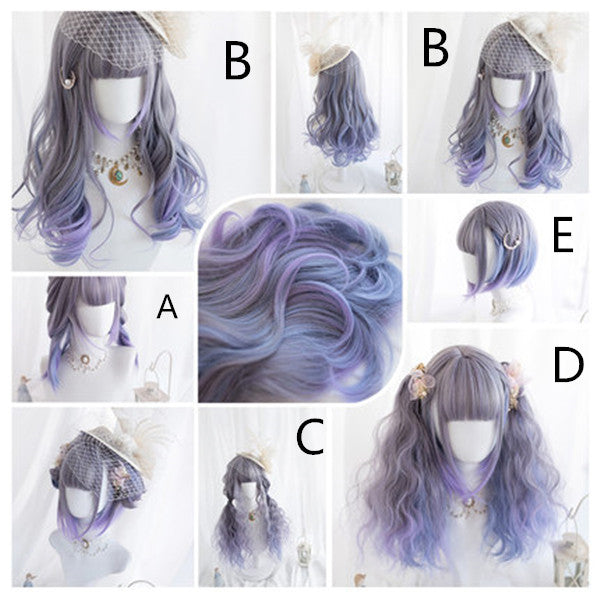 Lolita Purple Grey Gradient Wig DB5505