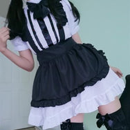 Sexy cos maid black and white uniform suit DB4980