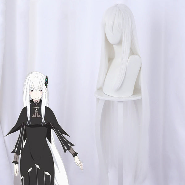 Aggie Donna cosplay white long wig DB5766