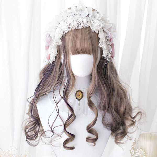 Lolita gray-purple wig DB4749