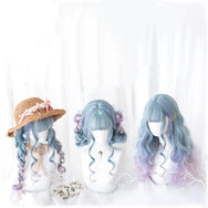 Lolita Harajuku Gradient Long Curly Hair Wig DB4817