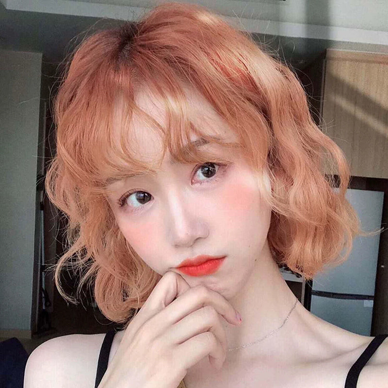 Harajuku light orange wig DB4676