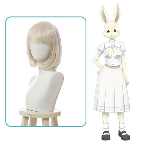 BEASTARS COS Rabbit Spring Short Wig DB5495