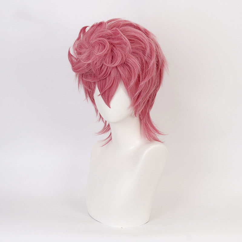 Trish Una cos smoky pink wig DB5798