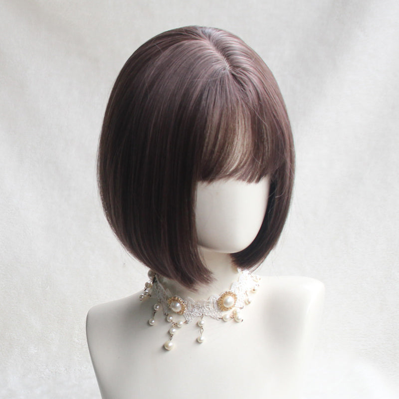 Natural black BoBo head wig DB4072