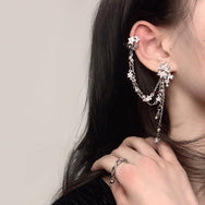 Pentagram tassel earrings stud earrings DB5311