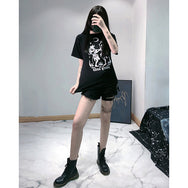 Dark printed T-shirt DB4183