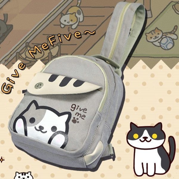 Cat teacher backpack crossbody bag DB5234