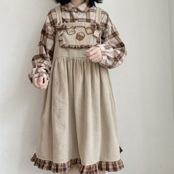 Cute bear suspender skirt DB6074
