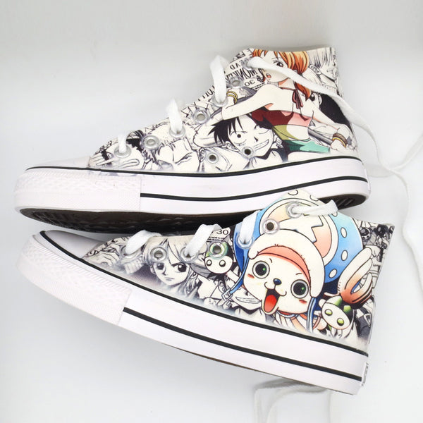 ONE PIECE anime hand-painted shoes DB5526
