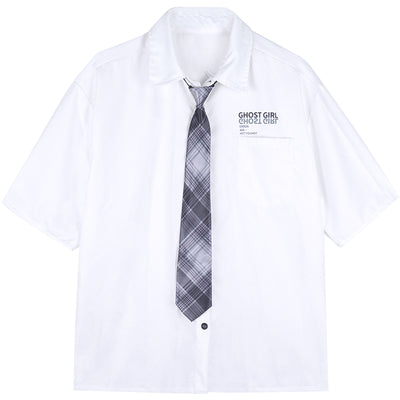 Dark college tie white shirt DB4142