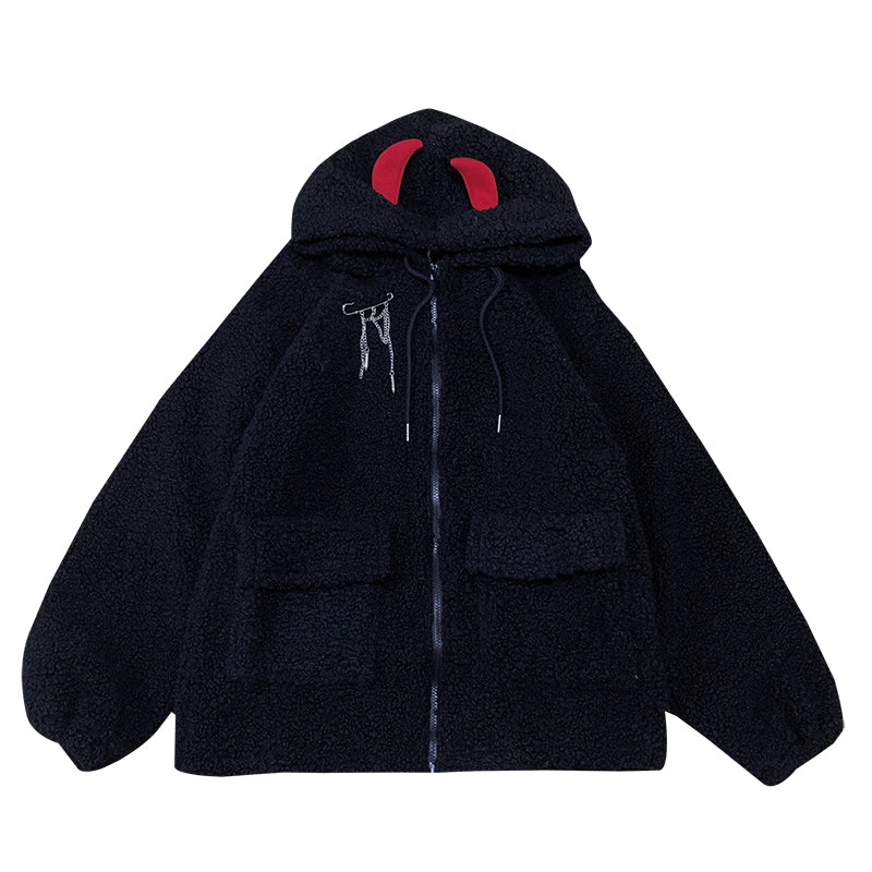 Black Hooded Jacket DB6240