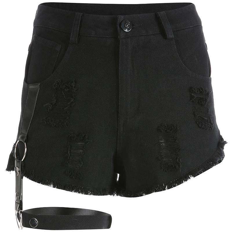 Punk black shorts DB2043