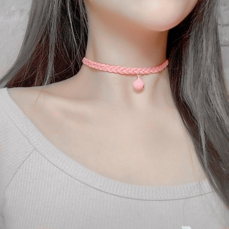 Pink Bell Pendant Clavicle Chain DB5405