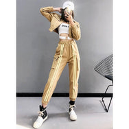 Ulzzang striped pants DB2083