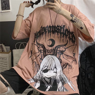 Anime printed short-sleeved T-shirt DB5706