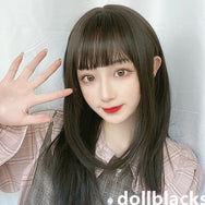 Lolita dark brown long straight wig DB5356