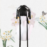 Harajuku natural black Hanfu wig DB4326