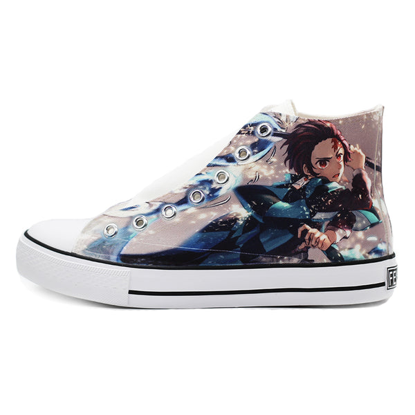 Kamado Tanjirou anime hand-painted shoes DB5354