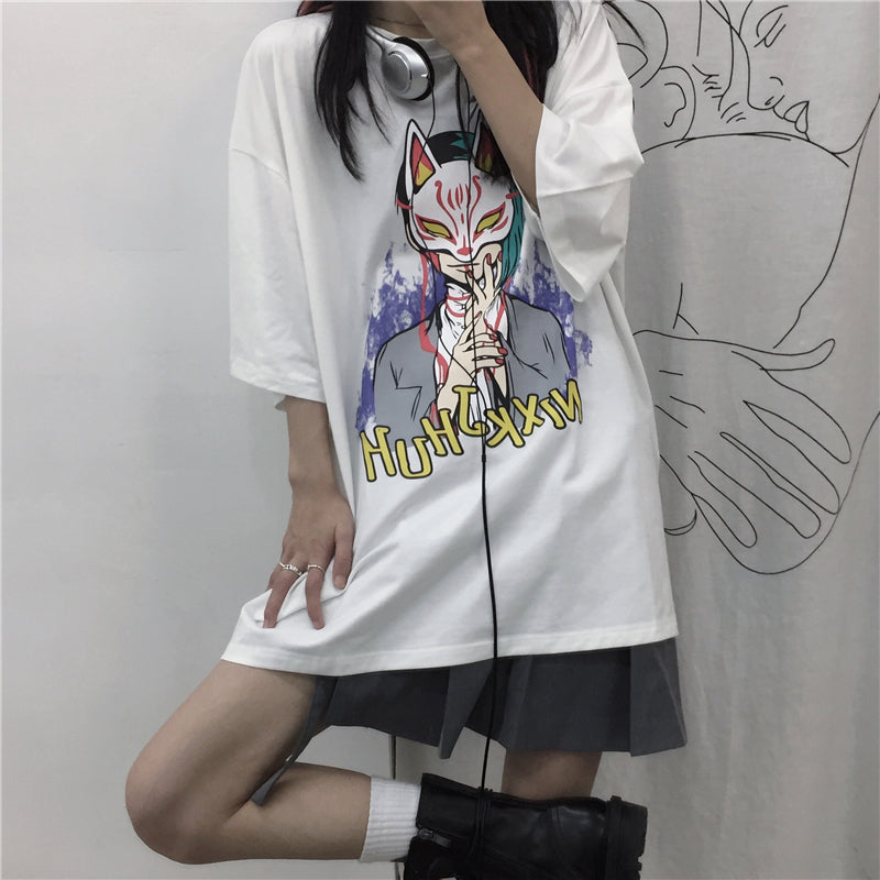 Couple anime short-sleeved T-shirt DB5664