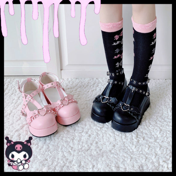 Lolita Little Bat Platform Shoes  DB6106